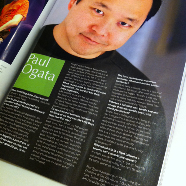 FHM Interview, May 2012 post image